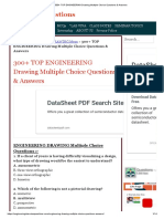 300+ TOP ENGINEERING Drawing Multiple Choice Questions & Answers
