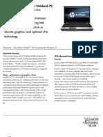 Datasheet - Msg - 6550b Notebook PC Datasheet 3 26 10