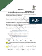 CUARTA UNIDAD.  BALANCEO DE ECUACIONES POR EL  MÉTODO REDOX.  13 de mayo del 2020