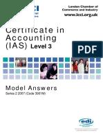 Accounting IAS (Malaysia) Model Answers Series 2 2007 Old Syllabus