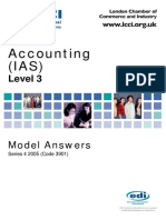 Accounting IAS Model Answers Series 4 2005 Old Syllabus