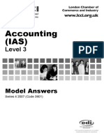 Accounting IAS Model Answers Series 4 2007