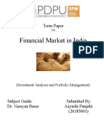 20185001 Financial Market in India