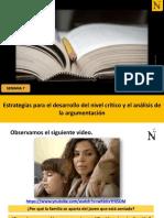 S7-Estrategias para el desarrollo del nivel crítico y el análisis de la argumentación