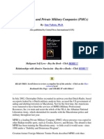 Private Armies and Private Military Companies (PMCs)