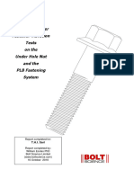 Report on Junker Fastener Vibration Tests on the Under Hole Nut and the PLB Fastening System