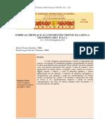 #[CIH] Sobre as crenças e as concepções cristãs na Carta a Diogneto (séc. II d.C.)