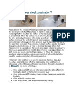 Corrosion & Passivation of steel