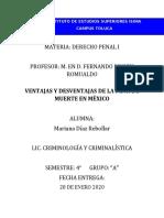 VENTAJAS Y DESVENTAJAS DE LA PENA DE MUERTE EN MEXICO.docx
