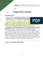 Studiu 7  - Limbaj, text și context