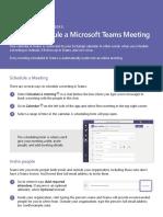 Schedule Ms Teams Meeting