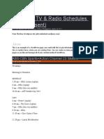 Philippine TV & Radio Schedules (2010)