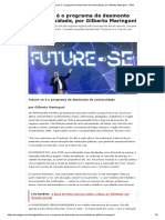 Future-se é o programa de desmonte da universidade, por Gilberto Maringoni - GGN