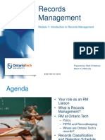 Module 1 - Introduction to Records Management