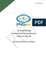 Course Plan - Digital Marketing-Student Copy