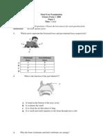 Final Exam p1 f2(2006) New