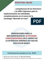 ORIENTACIONES PARA LA ELABORACIÓN DE LAS ACTIVIDADES COMPLEMENTARIAS PARA INICIAL