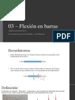 03 – Flexión en barras