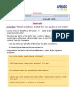 FICHA DE TRABAJO SEMANA 5 DIA 1