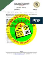 SECUENCIA GRADO PRIMERO MATEMATICAS AGOSTO