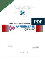 APRENDIZAJE SIGNIFICATIVO (ENSAYO-ULAC)