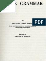 Ancient Greek Grammar - Harvard University Press (HWS)