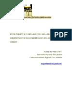ENTRE PULSIÓN Y CUERPO, POLITICA DE LA TRANSFERENCIA