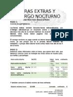INSTRUTIVO PASO A PASO HORAS EXTRA Y RECARGO NOCTURNO