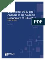 Alabama Education Department Study & Analysis