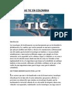 evidencia 1 LAS TIC EN COLOMBIA