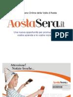 Presentazione Aostasera.it, pubblicità e marketing per la Valle d'Aosta
