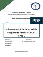 le financement désintermédié _ support de fonds OPCR, OPCI