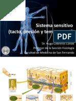 Sistema sensitivo Tacto, Presión y Temperatura