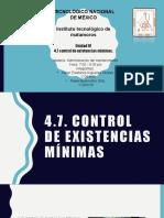 4.7 control de existencias minimas.