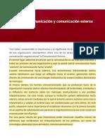 Políticas de comunicación y comunicación externa