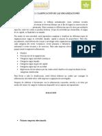 ACTIVIDAD 1. CLASIFICACION DE LAS ORGANIZACIONES