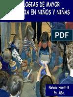 Patologias de mayor prevalencia en niños y niñas