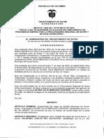 Decreto 0293 de 2020-alcalde encargado de Sucre (Sucre)