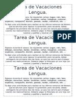 felices vacaciones lengua