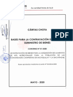 Contratación de Bienes para la Adquisición de Alimentos de Kists Nutricionales para la Población de las Comunidades Campesinas Michiquillay y la Encañada