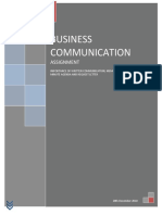 Assignment of Business Communications