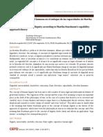 Concepto de diginidad humana en el enfoque de las capacidades de MARTAH NUSSBAUM'S