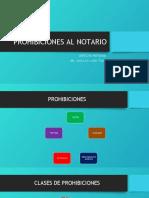 PROHIBICIONES NOTARIO