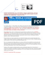 11-01-03 URGENT INTERNATIONAL CALL FOR PAPERS
