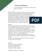 TALLER DE APRENDIZAJE  4TEXTOS LITERARIO Y NO LITERARIO