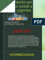 Exportación por trafico postal y envíos urgentes