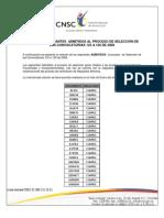 Listado Admitidos Convocatorias 123 a 126 de 2009
