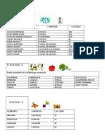 lista de intercambios de alimentos