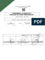 1.  PROCEDIMIENTO ELABORACION Y EJECUCION DE PLANES OPERACIONALES  (1)