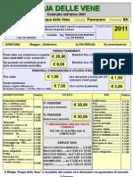 Tariff a Rio Rifugio Acqua Delle Vene 2011